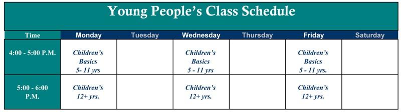 Aikido Class schedule